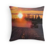 NORTHERN  ICE  ROAD  Throw Pillow