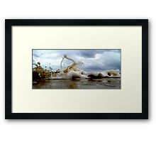 Clouds Sea Sand 11 Framed Print