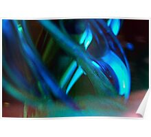 Blue Green Abstract  Poster