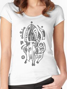 Surrealist Head Women's Fitted Scoop T-Shirt