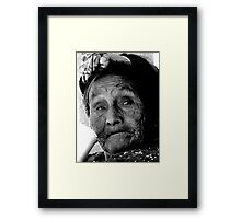 """Aged Skin"" - Guatemalan Indigenous People Framed Print"