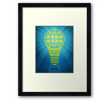 Word: Matthew (Light of the World) Framed Print