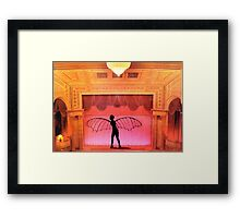the incredible winged woman of Paris Framed Print