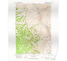 USGS Topo Map Oregon Deadhorse Ridge 279585 1963 24000 Poster