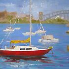 On the water - Rushcutters Bay by Tash  Luedi Art