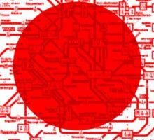 Modern Japan Tokyo Metro Map Sticker