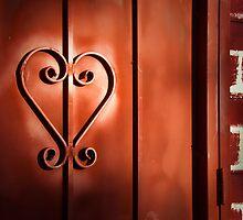 """Romantic Entry"" - heart shape on door by John Hartung"