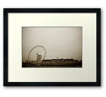 The London Eye in Sepia Framed Print