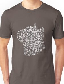 Charcoal Snow Leopard Unisex T-Shirt