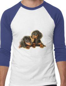 Dachshund Dogs Men's Baseball ¾ T-Shirt