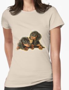 Dachshund Dogs Womens Fitted T-Shirt