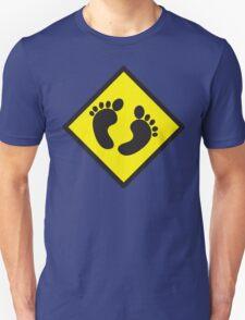 cute warning sign of feet T-Shirt