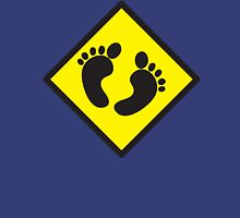 cute warning sign of feet Unisex T-Shirt