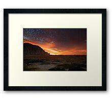 Sunset On The Dunes Framed Print