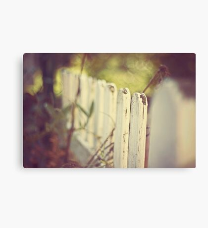 white fence of memories Canvas Print