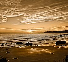 Sunset On The Central Coast OF Calif by DavidCastello
