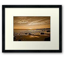 Sunset On The Central Coast OF Calif Framed Print
