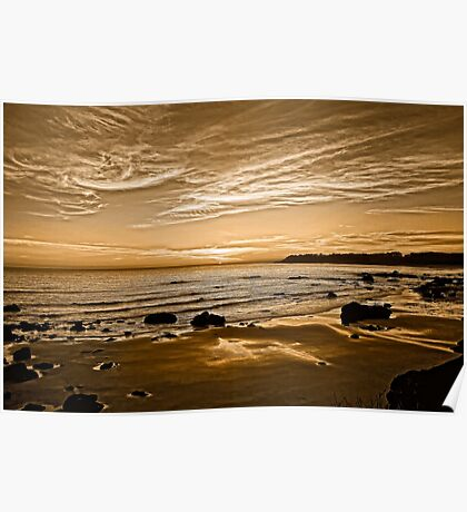 Sunset On The Central Coast OF Calif Poster