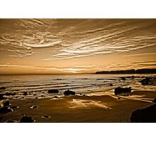 Sunset On The Central Coast OF Calif Photographic Print