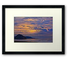 Soft And Beautiful Sunset Framed Print