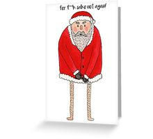 St. Nickerless' Watercolor Christmas card design. Greeting Card