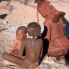 Himba mother and children, Namibia (2) by Margaret  Hyde