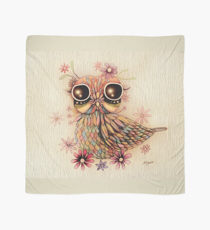 little flower owl Scarf