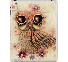 little flower owl iPad Case/Skin