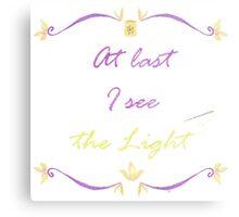 I See the Light Needlepoint Metal Print