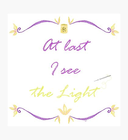 I See the Light Needlepoint Photographic Print