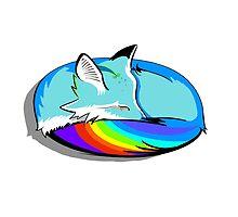 Rainbow Fox by DavidPeng