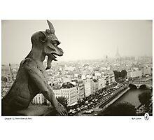Gargoyle(1), Notre Dame de Paris Photographic Print