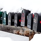 snowy mailboxes by Jeanne Frasse