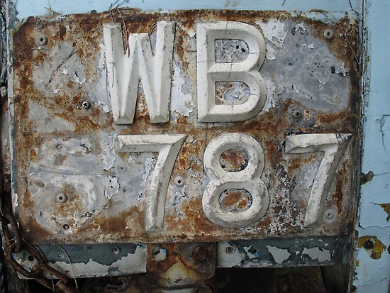 Missing 6!- Old number plate by mypic