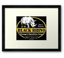 Black Rhino Safari Framed Print