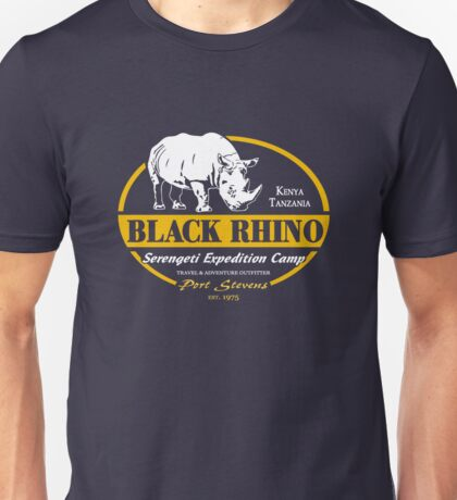 Black Rhino Safari Unisex T-Shirt