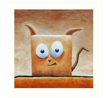 Square Cat Art Print