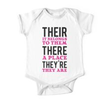 Their – it belongs to them, There   - a place, They're – they are One Piece - Short Sleeve