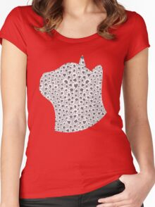 Ash Grey Snow Leopard Women's Fitted Scoop T-Shirt