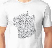 Ash Grey Snow Leopard Unisex T-Shirt