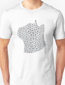 Ash Grey Snow Leopard T-Shirt
