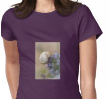 Snail on Sea Holly Flower Womens Fitted T-Shirt