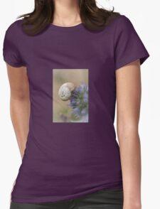 Snail on Sea Holly Flower T-Shirt