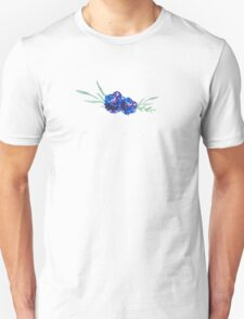 Blue watercolor flowers T-Shirt
