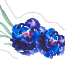 Blue watercolor flowers Sticker