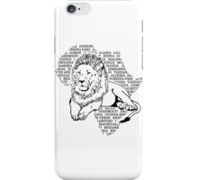 Lion - Africa Map iPhone Case/Skin