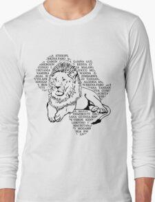 Lion - Africa Map Long Sleeve T-Shirt