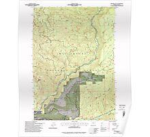 USGS Topo Map Oregon Westfir East 282056 1997 24000 Poster