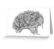 Botanical Echidna Greeting Card
