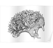 Botanical Echidna Poster